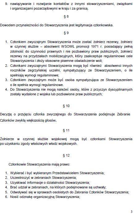 Regulamin Stowarzyszenia str. 3
