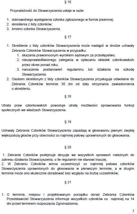 Regulamin Stowarzyszenia str. 5